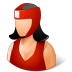 72x72px size png icon of Sport Boxer Female Light
