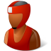 72x72px size png icon of Sport Boxer Male Dark
