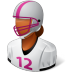 72x72px size png icon of Sport Football Player Female Dark