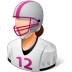 72x72px size png icon of Sport Football Player Female Light