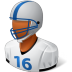 72x72px size png icon of Sport Football Player Male Dark