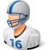 72x72px size png icon of Sport Football Player Male Light