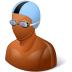 72x72px size png icon of Sport Swimmer Male Dark