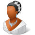 72x72px size png icon of Wedding Bride Dark