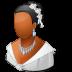 72x72px size png icon of Wedding Bride Dark