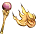 72x72px size png icon of Fire Staff