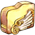 72x72px size png icon of Folder angelwing