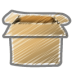72x72px size png icon of scribble box open
