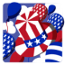 72x72px size png icon of Independence Day 5 Hat Balloons