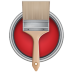 72x72px size png icon of Paint Bucket Can Brush
