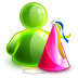 72x72px size png icon of birthday