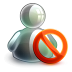 72x72px size png icon of blocked offline