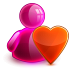 72x72px size png icon of love girl