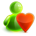72x72px size png icon of love