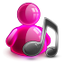 72x72px size png icon of music girl