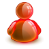 72x72px size png icon of online red