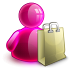 72x72px size png icon of shopping girl
