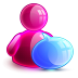 72x72px size png icon of talking girl