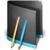 72x72px size png icon of Applications Folder Black