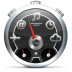 72x72px size png icon of Dashboard Black