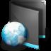 72x72px size png icon of Net Folder Black