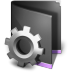 72x72px size png icon of Smart Folder Black