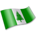 72x72px size png icon of Norfolk Island Flag 2