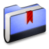 72x72px size png icon of Bookmark Blue Folder