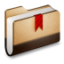 72x72px size png icon of Bookmark Brown Folder