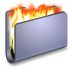 72x72px size png icon of Burn Blue Folder
