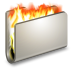 72x72px size png icon of Burn Metal Folder