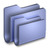 72x72px size png icon of Folders Blue Folder