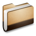72x72px size png icon of Library Brown Folder