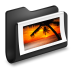 72x72px size png icon of Photos Black Folder