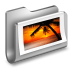 72x72px size png icon of Photos Metal Folder