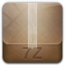 72x72px size png icon of 7z