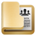 72x72px size png icon of folder contacts