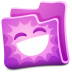 72x72px size png icon of pink folder