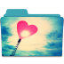 72x72px size png icon of Folder Heart