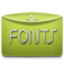 72x72px size png icon of Folder Text Fonts