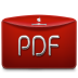72x72px size png icon of Folder Text PDF