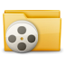 72x72px size png icon of Folder Movie