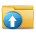 72x72px size png icon of Folder Upload