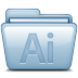 72x72px size png icon of Blue Adobe Illustrator