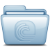 72x72px size png icon of Blue Bittorrent