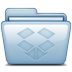 72x72px size png icon of Blue Dropbox
