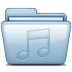 72x72px size png icon of Blue Music