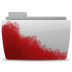 72x72px size png icon of Folder Bloody Gray