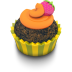 72x72px size png icon of Chocolate Orange Cupcake