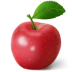 72x72px size png icon of apple red